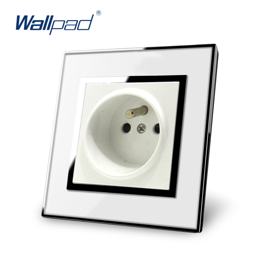 2 Pin Eu Socket Schuko Wallpad Luxury Wall Electric Power Plug Wiring Diagram Outlet Mirror Acrylic Panel French Standard 16a Ac 110250v In Switches From Lights