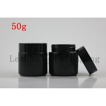 50g Black  Glass Jars For Facial Mask, Facial Cream Container Glass Cosmetic Cream Jar  Empty Cosmetic Containers Glass Pot