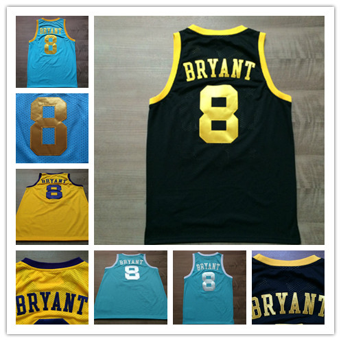 c35be2fee NWT 8 Kobe Bryant Jersey MPLS Yellow purple Black Light Blue White Throwback  Kobe Bryant Basketball Jersey