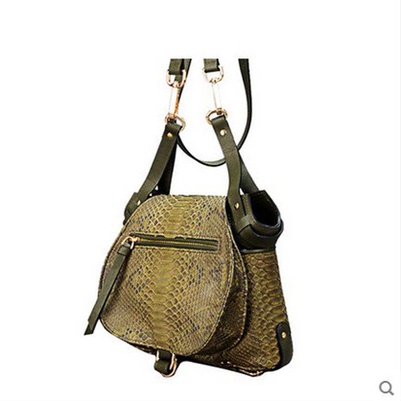 2018 jilante Womens python leather handbag genuine leather single shoulder small women bag new style single shoulder bag mail
