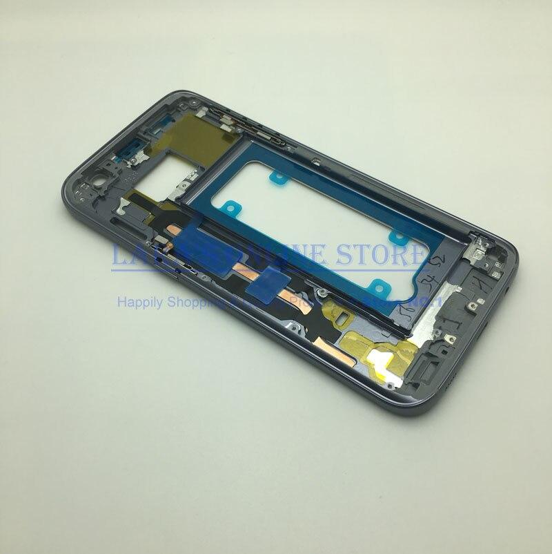 Mittleren Frame Für Samsung Galaxy S7 G930 S7 Rand G935 Mid Bezel Metallrahmen Gehäuse Chassis mit Seite Schlüssel Ersatz teile
