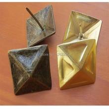 30 ММ Имитация золота пузырь ногти Квартет красный бронзовый диван ногтей Декоративные гвозди Треугольник ногтей