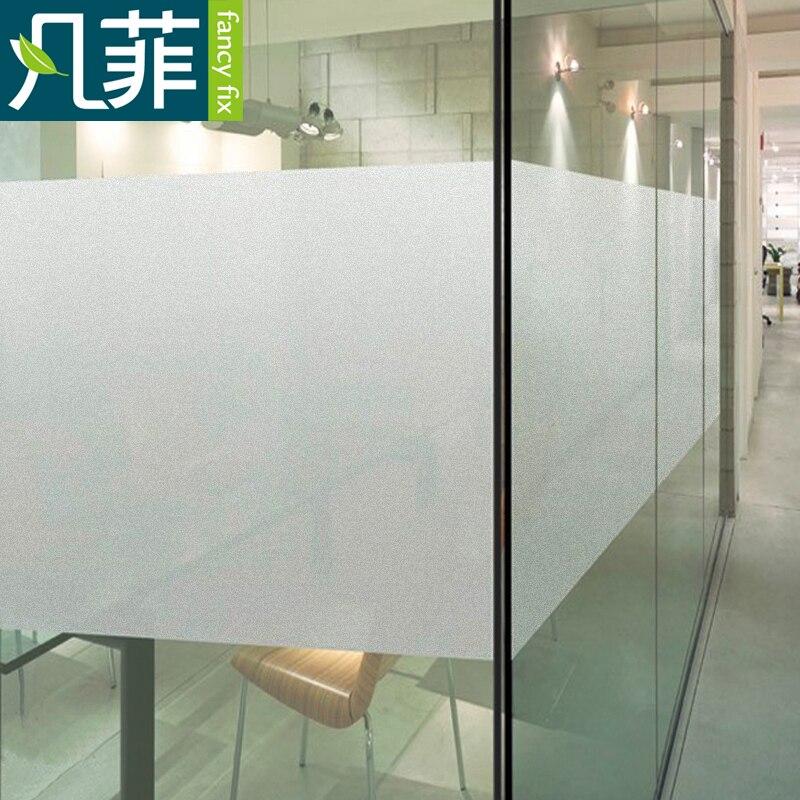 FANCY-FIX vidrio esmerilado película de la ventana privacidad para edificio de oficinas, estática Fácil instalación DIY decorativo película, 17,8 pulgadas