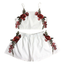 women's flowers Sleeveless Tops and Shorts suits women's sets summer casual 2 piece sets female Beach Style