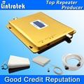 Reforço de sinal de celular banda dupla 3G W-CDMA 2100MHz + GSM 900Mhz display LCD, repetidor de sinal de celular conjunto inteiro 900 2100