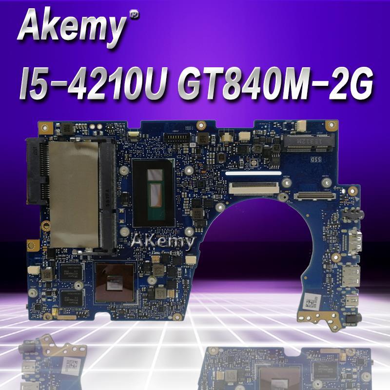 Akemy UX303LN scheda madre Del Computer Portatile per ASUS UX303LN UX303LB UX303L UX303 Prova mainboard originale 4G di RAM I5-4210U GT840M-2G