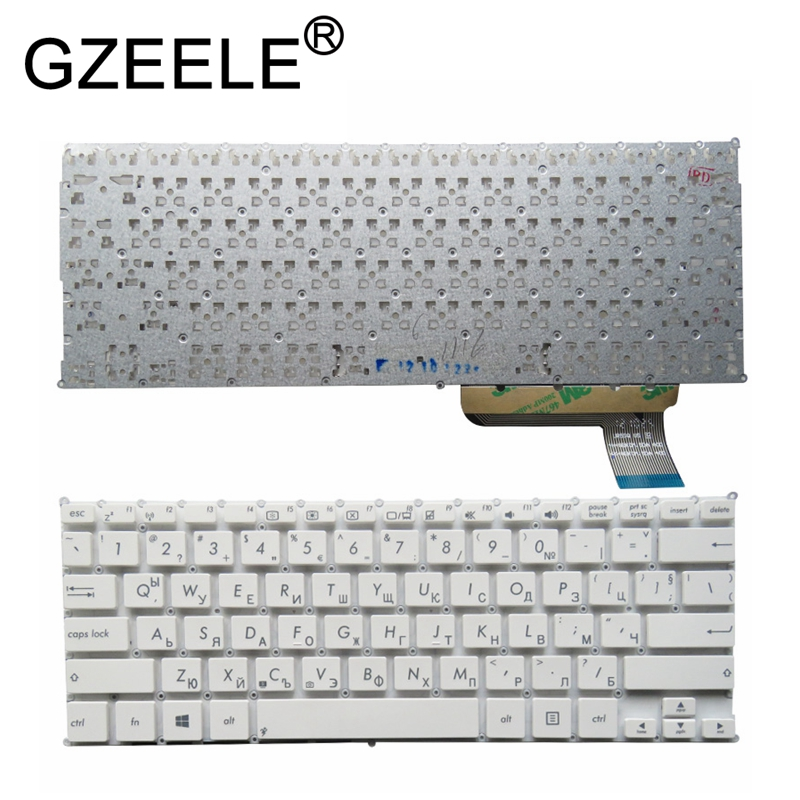 GZEELE New RU Laptop Keyboard For Asus R200E R200 R201E F201 F201E F202 F202E Russian Layout Black Or White