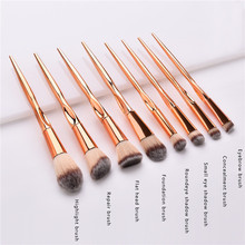 8Pcs Makeup Brushes Set rose gold Handle For Foundation Powder Blush EyeShadow L