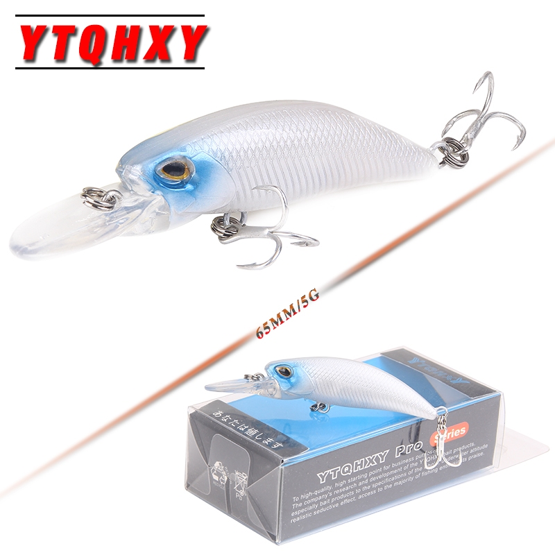 YTQHXY New Jerkbait Minnow Fishing Lure 65mm 5g Crankbaits 0.8-1.5m Bass Pike Hard Bait Swimbait Wobblers Tackle YE-472 9pcs lot fishing lure hard bait minnow lure fishing bass crankbait swimbait trout baits with 2 hooks fishing tackle 4 5cm piece