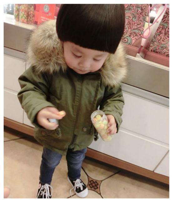 Inverno quente Do Bebê meninos jaquetas meninos parkas crianças Outerwear meninos roupas de bebê roupa infantil N28