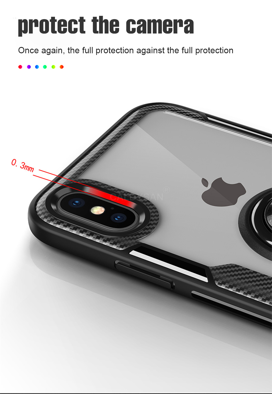 Luxury Bumper Case And Car Holder Ring Case For IPhone XS Max XR X 6