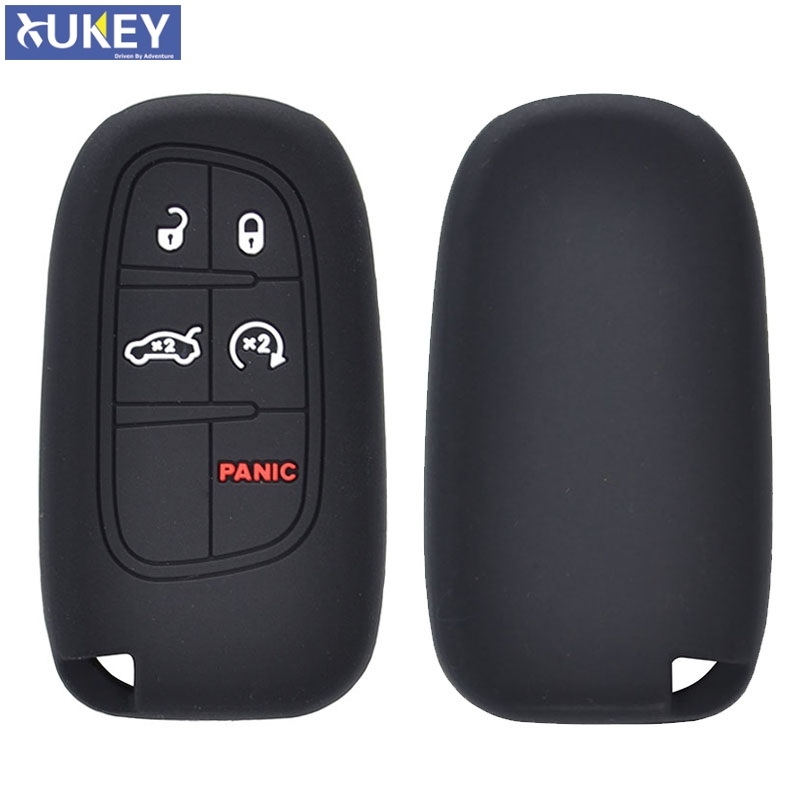 Jeep Grand Cherokee Key >> Us 1 52 10 Off Silicone Remote Key Case For Jeep Grand Cherokee Renegade For Dodge Ram Charger Dart Durango Journey Viper Fob Cover 5 Button In Key
