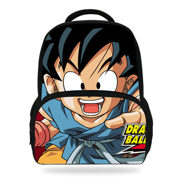 14Inch Popluar Dragon Ball School Backpack For Children Cartoon Printed Bag For Kids Boys Girls