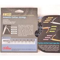2016 מחיר סיטונאי חדש אליס A332 מצופה פלדת משושה ליבה סט מחרוזת גיטרה אקוסטית סופר אור