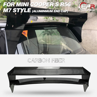 Carbon Roof Wing Lip For Mini cooper S R56 M7 Style FRP Roof Spoiler (Aluminmum end cap) Body Kits Tuning Tirm For R56 Racing