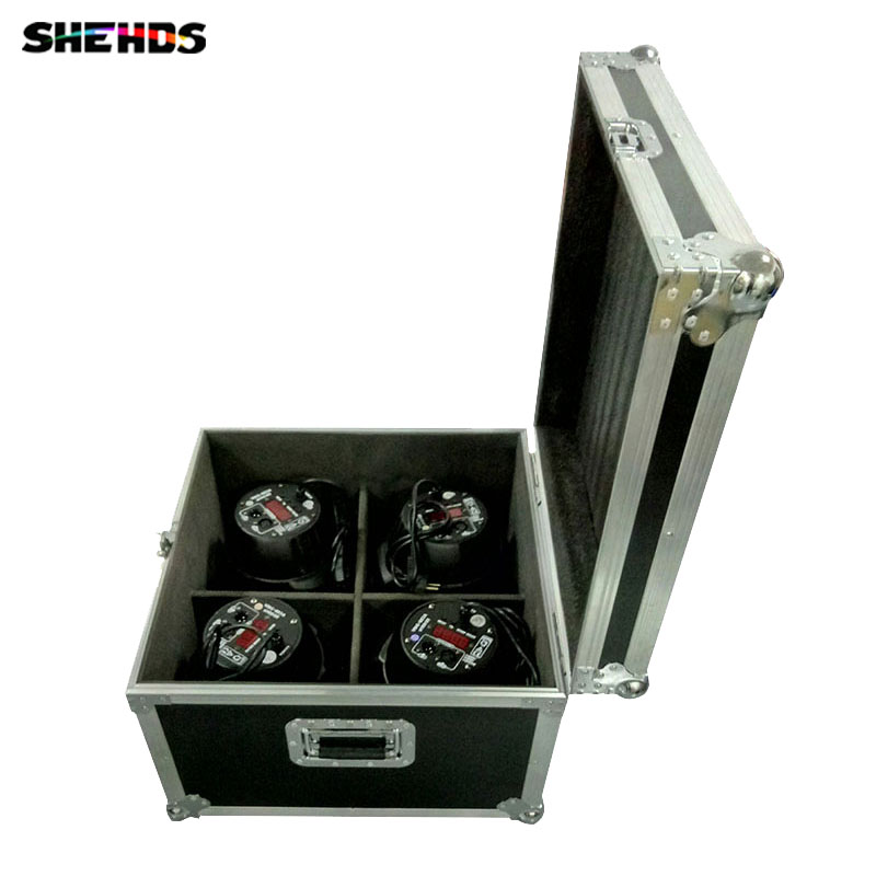 Flight Case with 4/8 pieces LED Par Can 54x9W RGB Lighting 3IN1 LED Light for Disco KTV Party Fast Shipping