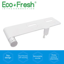 Ecofresh  Non-Electric Bidet Toilet Bidet Seat Self-Cleaning dual Nozzles-Fresh Water Bidet Sprayer Mechanical Shattaf Washing non electric bidet toilet attachment fresh water mechanical sprayer ass washer implement simple clean body irrigador orr