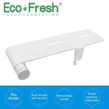 купить Ecofresh  Non-Electric Bidet Toilet Bidet Seat Self-Cleaning dual Nozzles-Fresh Water Bidet Sprayer Mechanical Shattaf Washing по цене 2539.47 рублей