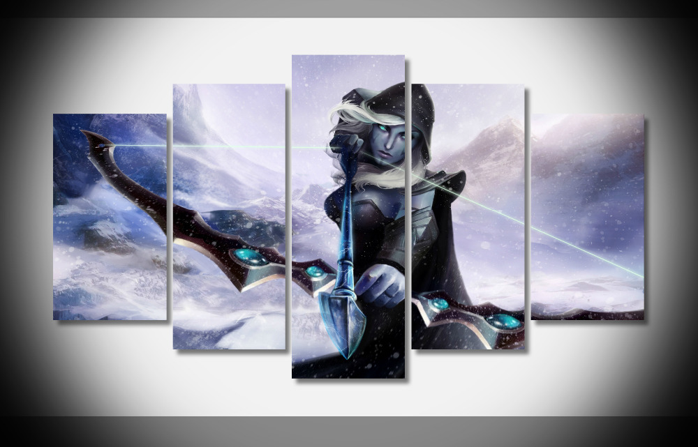 7251 Dota 2 Poster Wood Framed Gallery Wrap Art Print Home Wall Decor Gift Wall Picture Already