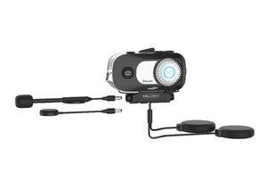 Image 3 - MORNYSTAR oreillette Bluetooth M1Pro, 2 pièces, appareil de communication pour 4 motocyclistes, interphone portée portée portée 800m, MP3, caméra enregistreur vidéo HD 1080P, kit mains libres