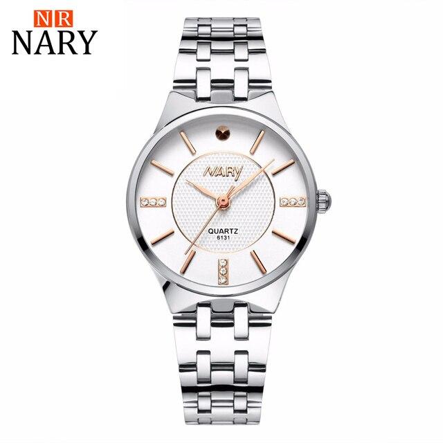2017 NARY Watches Women Brand Luxury Quartz Watch Women Fashion Relojes Mujer Ladies Wrist Watches Style watch Relogio Feminino