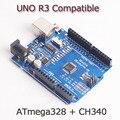 Высокое качество ООН R3 MEGA328P + CH340 для Arduino UNO R3 НЕТ USB КАБЕЛЬ Бесплатная Доставка