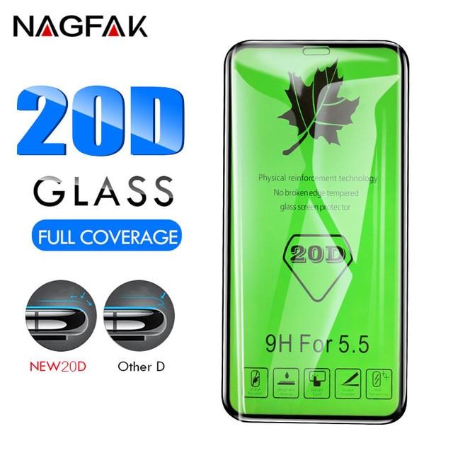 20D מלא כיסוי מגן זכוכית על עבור iPhone 7 8 6 6 S בתוספת XS מזג מגן מסך עבור iPhone X XR XS מקסימום 7 זכוכית סרט