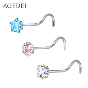 AOEDEJ 3 Pcs Rings Stainless Steel Piercing Nose