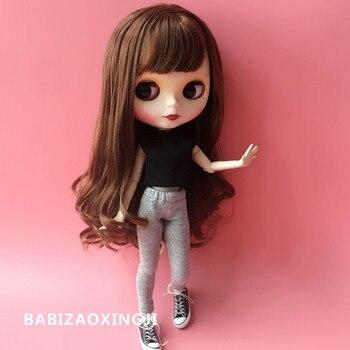 67bb0ac237 1 6 de Moda Ropa de la muñeca de ropa casual 30 cm muñeca accesorios  T-shirt + Pantalones para blyth 1 6 muñeca ropa para barbie
