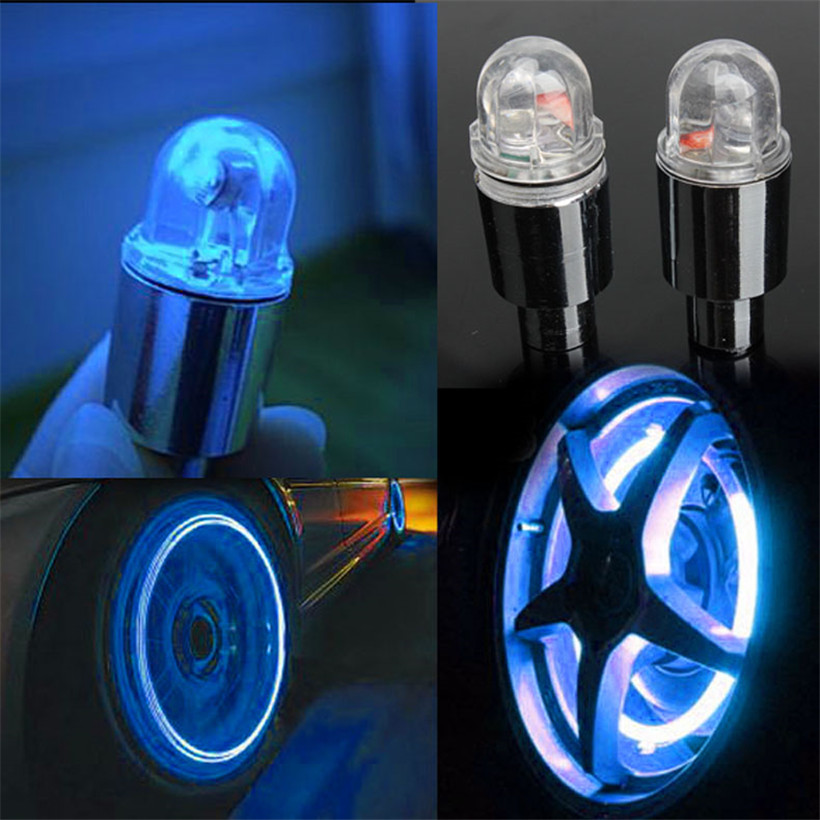 2Pcs Bike Bicycle Car Wheel Tire Valve Cap Spoke Neon LED Lights Lamp Gas Nozzle Valve Core Glow Stick Light цена