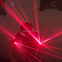 One pair laser armband Red Laser Waistcoat LED Clothes Laser Suits 650nm Laser Man Costumes For Nightclub Performers laser glove