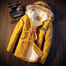 winter men s fashion boutique cotton thickening warm pure color slim casual jackets coats Male leisure