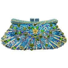 LaiSC frauen tageskupplungen Luxus kristall damen partei taschen pochette geldbörse brieftasche hochzeit braut diamante clutch abendtasche sc194