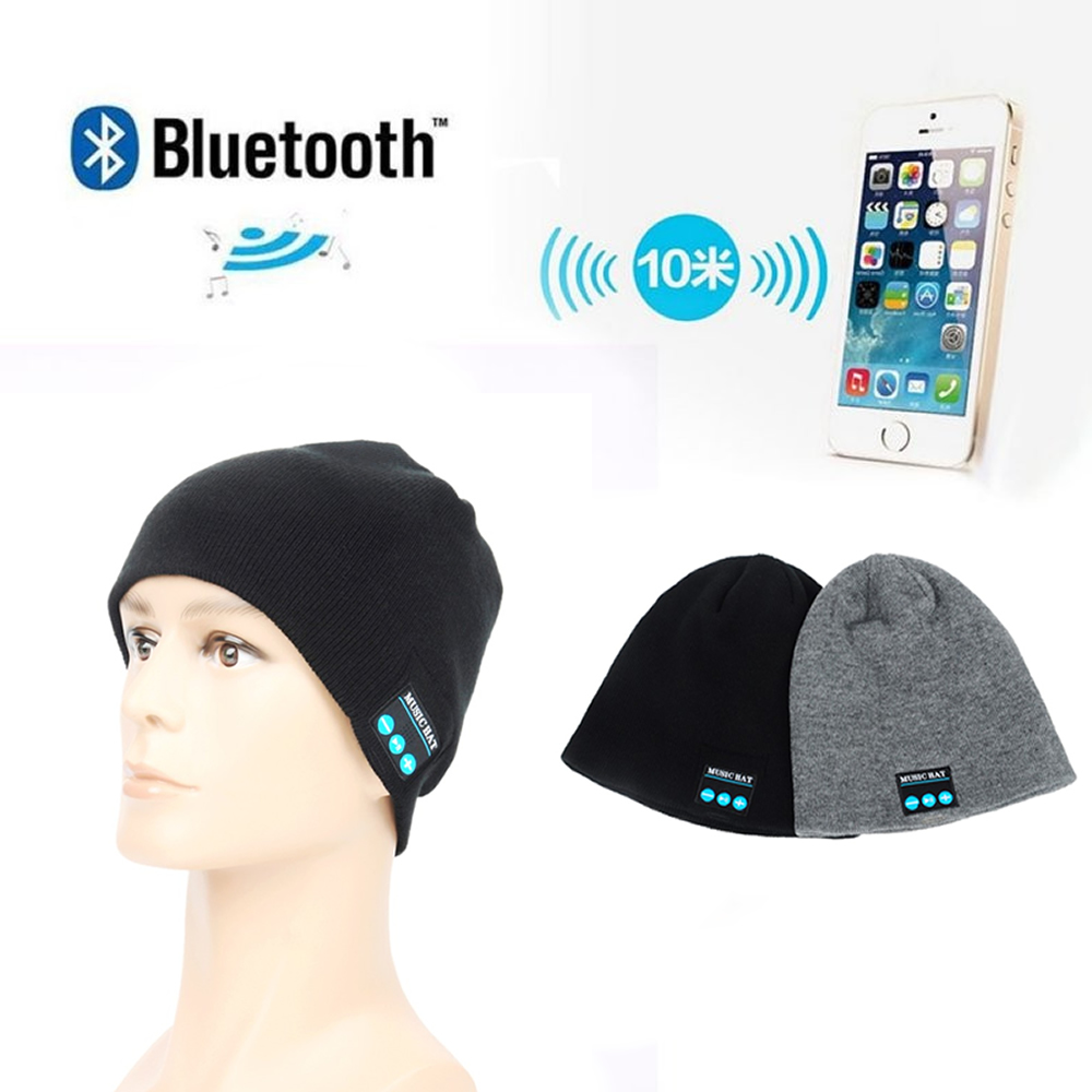 Wireless Bluetooth Music Beanie Cap /Stereo headset to answer the call of Hat / Speaker Mic Knitted Cap knitted skullies cap the new winter all match thickened wool hat knitted cap children cap mz081