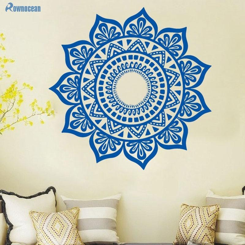 Custom Color Mandala Үнді Үстел Yoga Wall Stickers - Үйдің декоры - фото 2