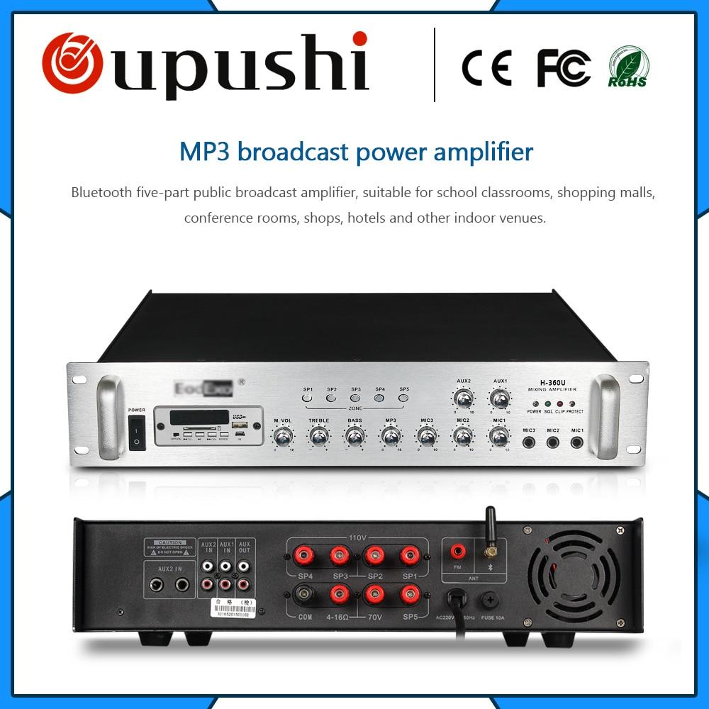 Pa system 5 zone bluetooth amplifier 360 watt sound power amplifier пилочка для ногтей leslie store 10 4sides 10pcs lot