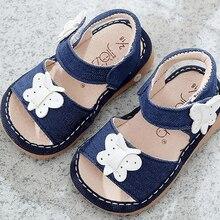 Модные туфли для маленьких девочек Детская летняя обувь ручной работы от 1 до 3 лет nina sapatos fun детская обувь темно-синие сандалии с тканевым верхом