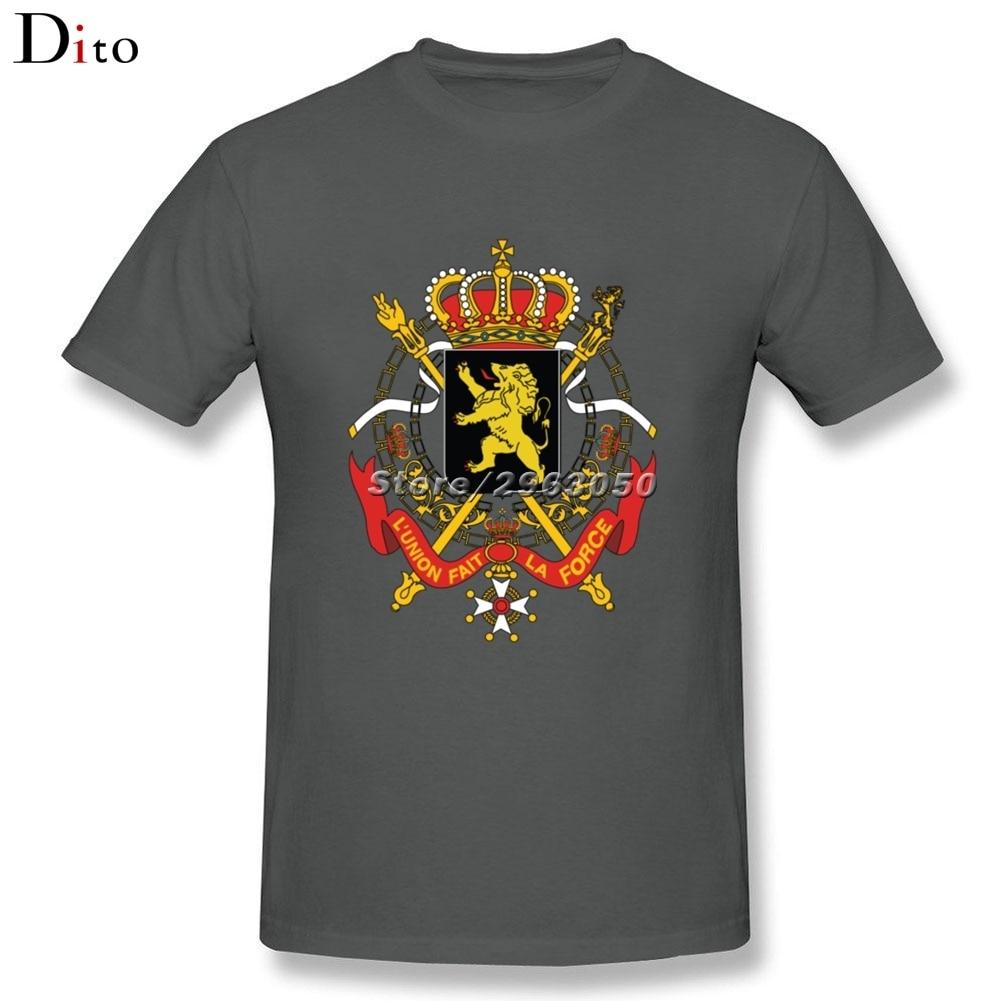 National Coat Of Arms Of Belgium T-shirt Men Boy Fabulous Short Sleeve Fashion Custom XXXL Couple Tshirts