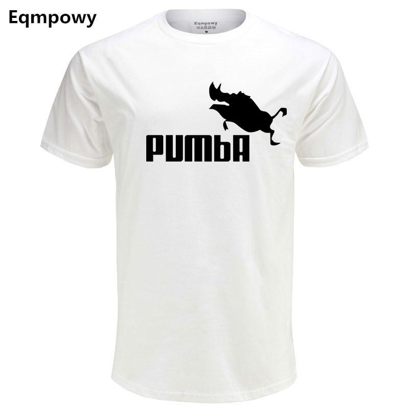 2018 grappige tee leuke t-shirts homme Pumba mannen vrouw 100% katoen - Herenkleding