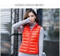 2016 Autumn and winter Women's slim fashion 90% white duck light  down outerwear Sleeveless vest Plus SIZE 7XL Slim Vest