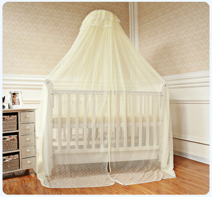 Cheap Price Baby Bed Accessoris Baby Crib CanopyMosquito Net for Toddler Crib Cot Canopy White YellowFoldable Bed Netting Mesh-in Crib Netting from Mother ... : baby cot net canopy - memphite.com