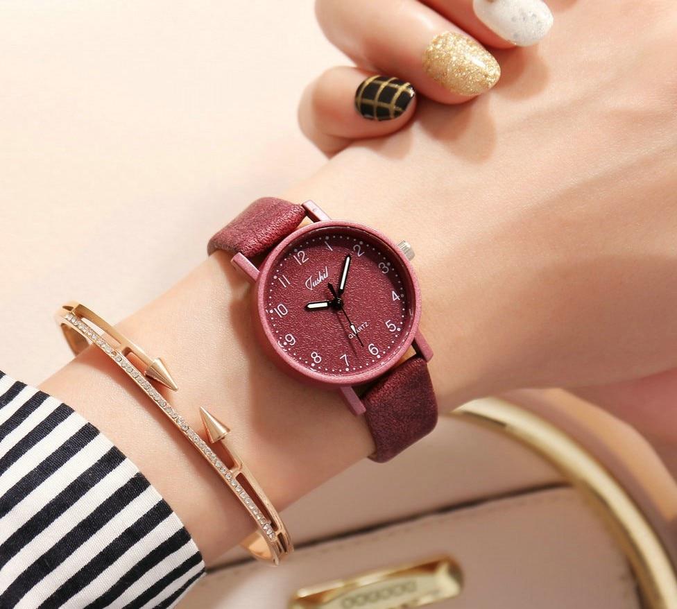 Women Watches Luxury Relogio Feminino Fashion Ladies Watch Leather Japan Movement Leather Clock Hours Uhr Quartz Wristwatch
