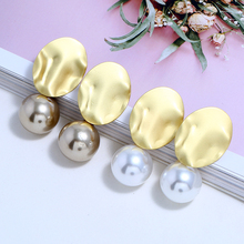 L&H Irregular Personality Dangle Earrings For Women Simple Ball Solid Color Pearl Drop Vintage Party Earings in Jewelry