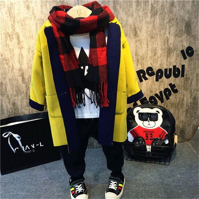2016 new winter trench girl outerwear toddler kids winter coats girl clothing children clothing B-BC-SY409
