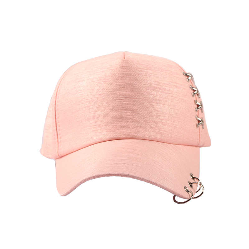 9bee2f171 ... Women Sun Hat Baseball Cap White Pink Summer Outdoor Sunscreen Caps  Couple Men Iron Ring Hats ...