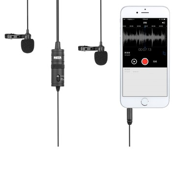 Boya Ile By M1dm Mikrofon çift Yaka Klip On Yaka Mikrofon Stereo