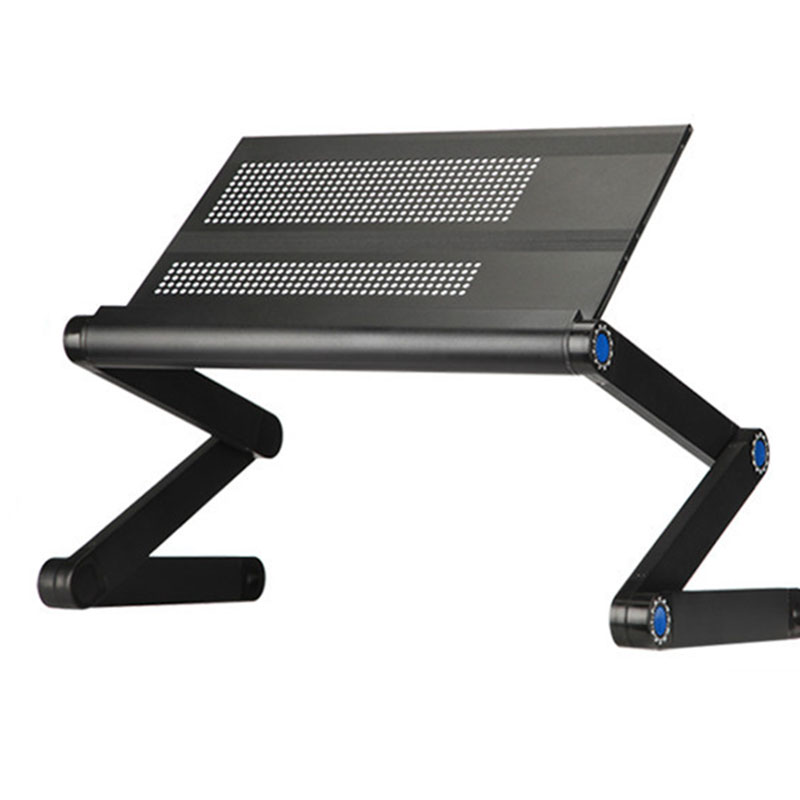 Fashion Modern Adjustable Aluminum Alloy Laptop Table Folding Portable Computer Desk Bed Laptop Stand With Cooling Hole 42*25CM