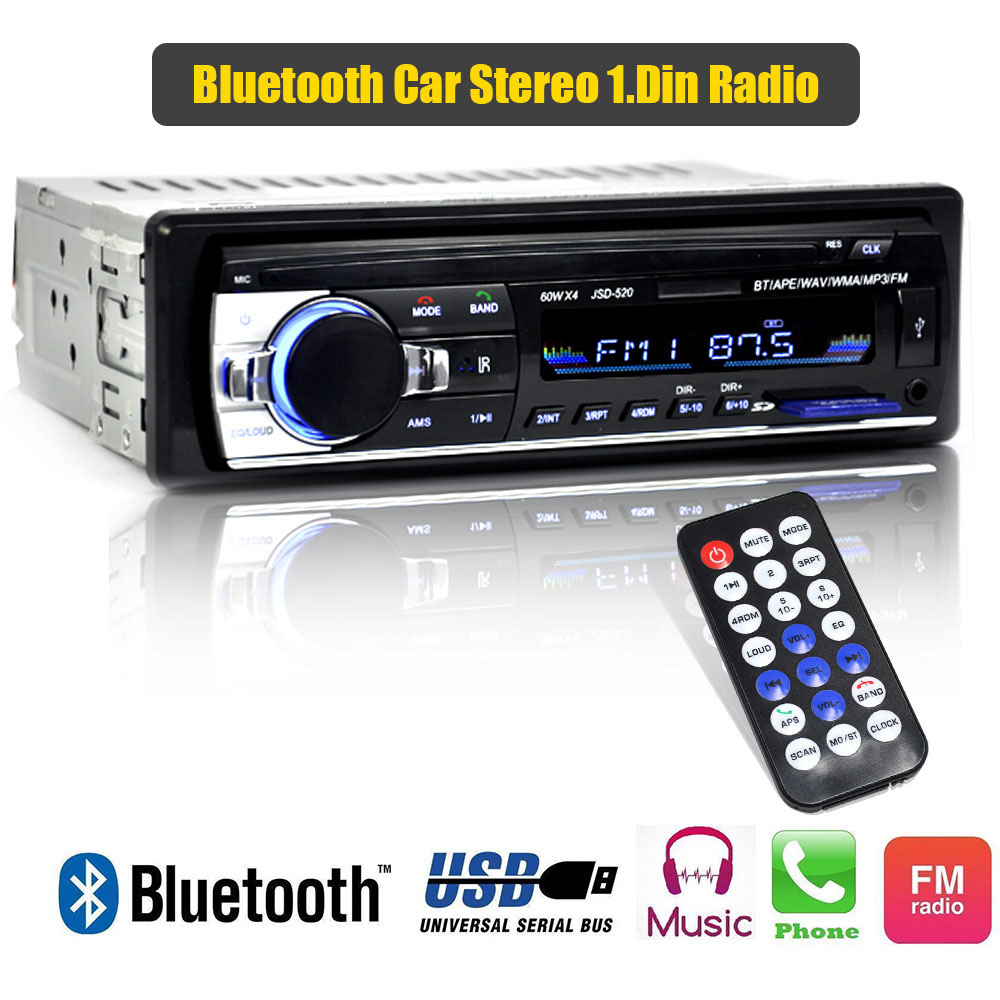 Image 5 - Car Stereo Bluetooth Audio MP3 Recorder With Remote Control Estereo Poste Para Auto Electronics Subwoofer Handsfree Calling-in Car Radios from Automobiles & Motorcycles