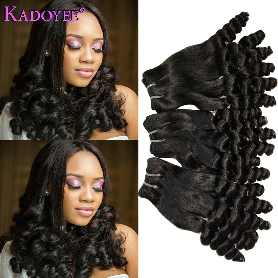 Funmi Hair Double Drawn Hairstyle Spring Curly Bouncy Curl Human Hair Bundles For Black Women Remy