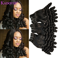 Funmi Hair Double Drawn Hairstyle Spring Curly Bouncy Curl Human Hair Bundles For Black Women Remy Hair Weave Extension 12 22